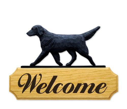 Flat-coated Retriever DIG Welcome Sign
