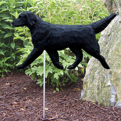 Flat-coated Retriever Garden Stake