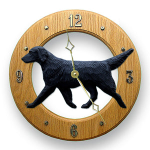 Flat-coated Retriever Wall Clock - Michael Park, Woodcarver