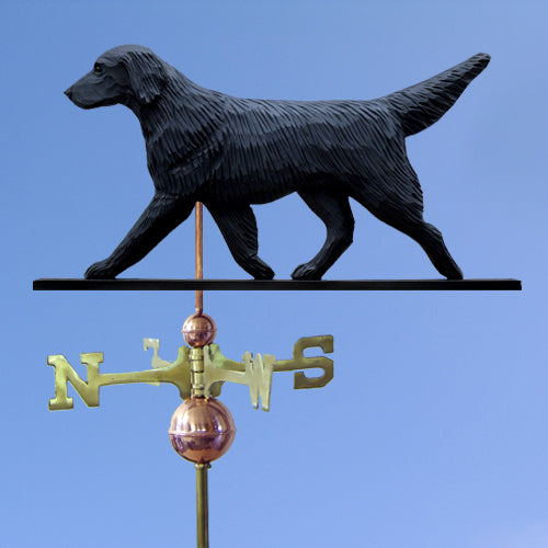 Flat-coated Retriever Weathervane - Michael Park, Woodcarver