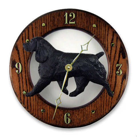 Field Spaniel Wall Clock - Michael Park, Woodcarver