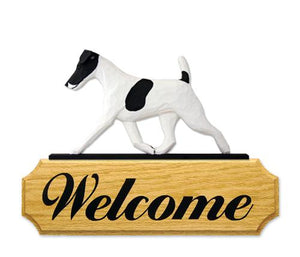 Fox Terrier (Smooth) DIG Welcome Sign