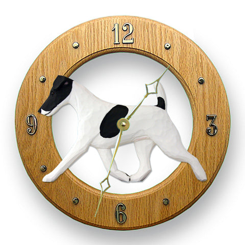 Fox Terrier (Smooth) Wall Clock - Michael Park, Woodcarver