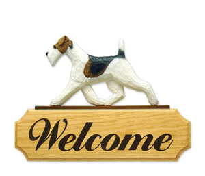Fox Terrier (Wire) DIG Welcome Sign