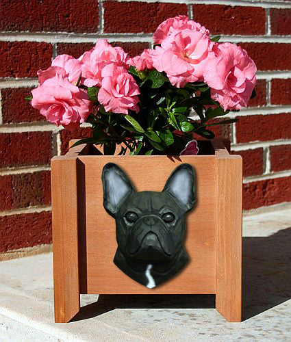 French Bulldog Planter Box - Michael Park, Woodcarver