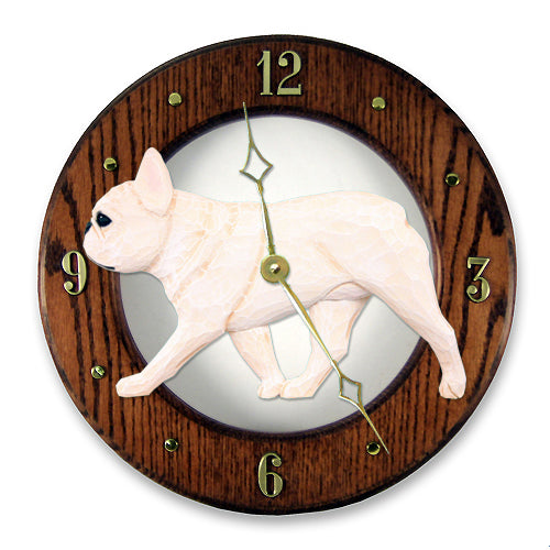 French Bulldog Wall Clock - Michael Park, Woodcarver