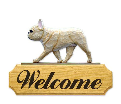 French Bulldog DIG Welcome Sign