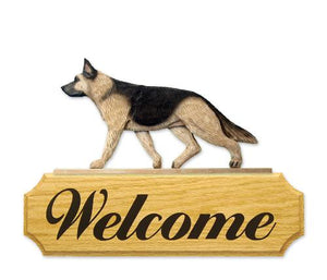 German Shepherd DIG Welcome Sign