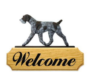 German Wirehaired Pointer DIG Welcome Sign