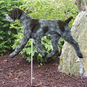 German Wirehaired Pointer Garden Stake