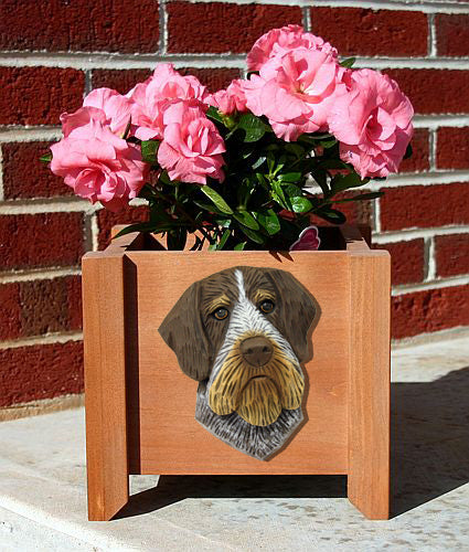 German Wirehaired Pointer Planter Box - Michael Park, Woodcarver