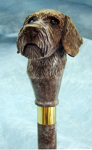 German Wirehair Pointer Walking Stick