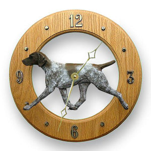 German Shorthaired Pointer Wall Clock - Michael Park, Woodcarver