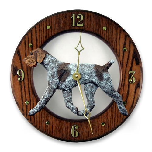 German Wirehaired Pointer Wall Clock - Michael Park, Woodcarver