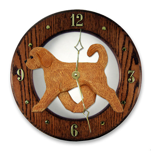Goldendoodle Wall Clock - Michael Park, Woodcarver