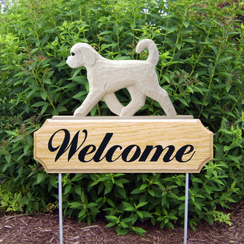 Goldendoodle DIG Welcome Stake - Michael Park, Woodcarver