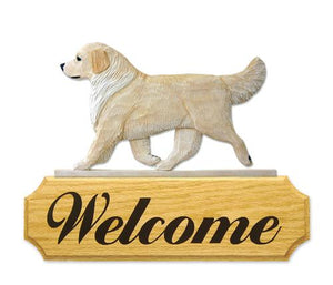 Golden Retriever DIG Welcome Sign