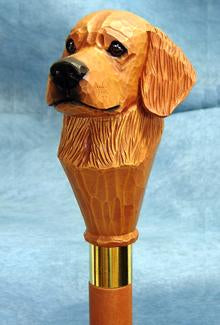 Golden Retriever Walking Stick