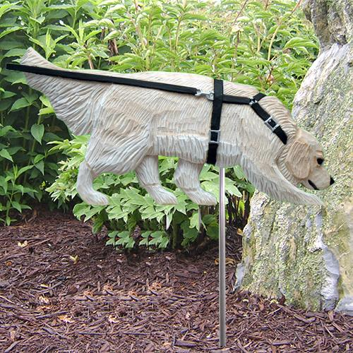 Golden Retriever Tracking Garden Stake