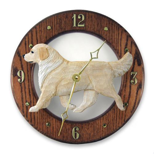Golden Retriever Wall Clock - Michael Park, Woodcarver