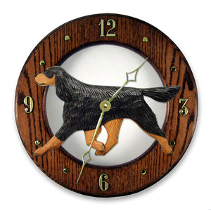 Gordon Setter Wall Clock - Michael Park, Woodcarver