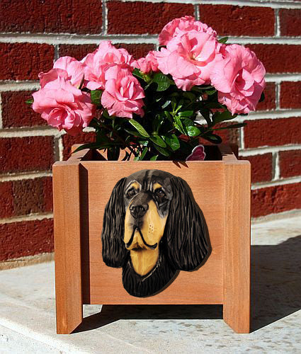 Gordon Setter Planter Box - Michael Park, Woodcarver