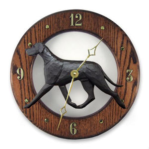 Great Dane (Natural) Wall Clock - Michael Park, Woodcarver