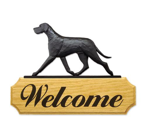 Great Dane (Natural) DIG Welcome Sign