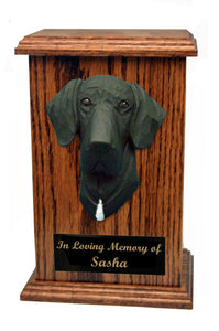 Great Dane (Natural) Memorial Urn