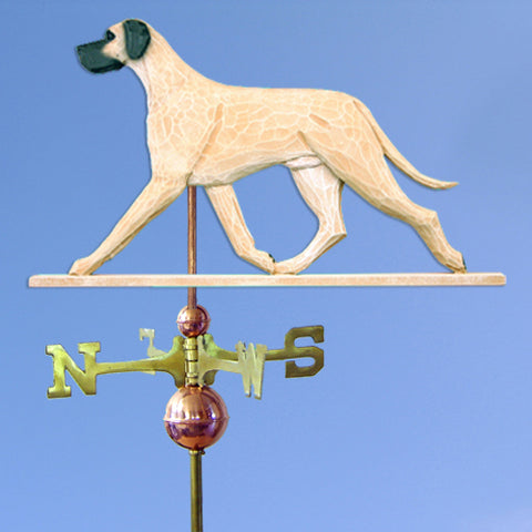 Great Dane (Natural) Weathervane - Michael Park, Woodcarver