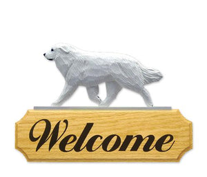 Great Pyrenees DIG Welcome Sign