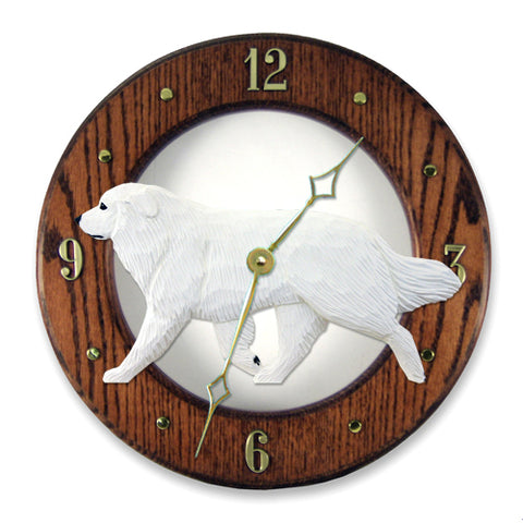 Great Pyrenees Wall Clock - Michael Park, Woodcarver