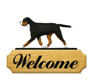 Greater Swiss Mt. Dog DIG Welcome Sign