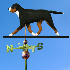 Greater Swiss Mt. Dog Weathervane - Michael Park, Woodcarver