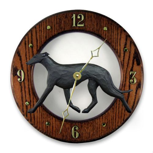 Greyhound Wall Clock - Michael Park, Woodcarver