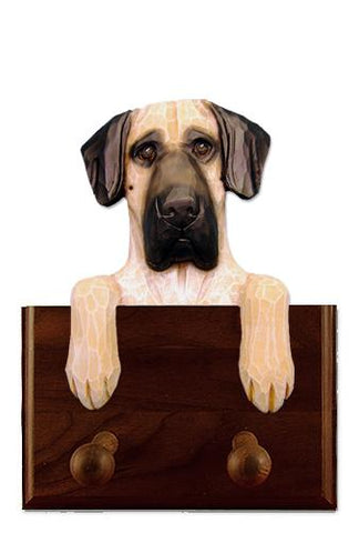 Great Dane (Natural) Leash Holder