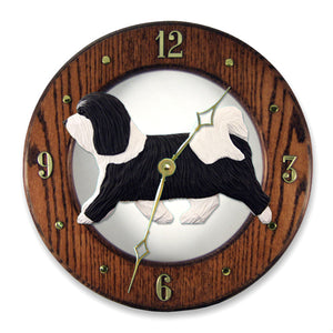 Havanese Wall Clock - Michael Park, Woodcarver