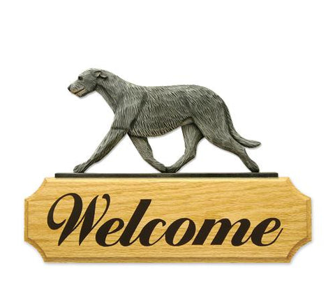 Irish Wolfhound DIG Welcome Sign