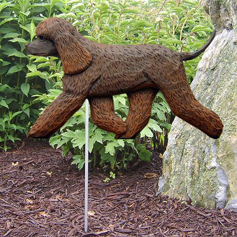 Irish Water Spaniel Garden Stake