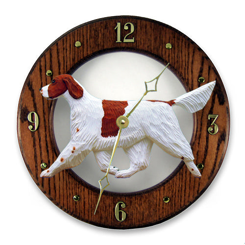 Irish Red and White Setter Wall Clock - Michael Park, Woodcarver