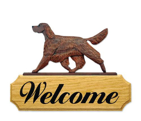 Irish Setter DIG Welcome Sign