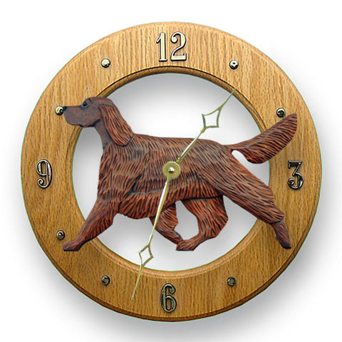 Irish Setter Wall Clock - Michael Park, Woodcarver