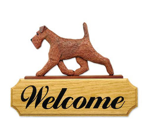 Irish Terrier DIG Welcome Sign