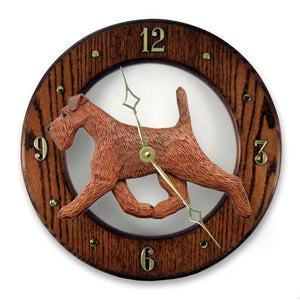 Irish Terrier Wall Clock - Michael Park, Woodcarver