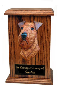 Irish Terrier Memorial Urn