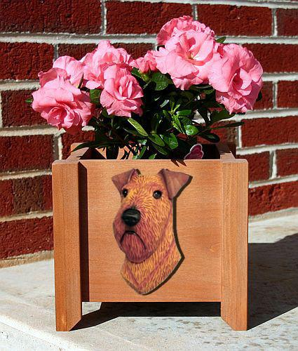 Irish Terrier Planter Box - Michael Park, Woodcarver