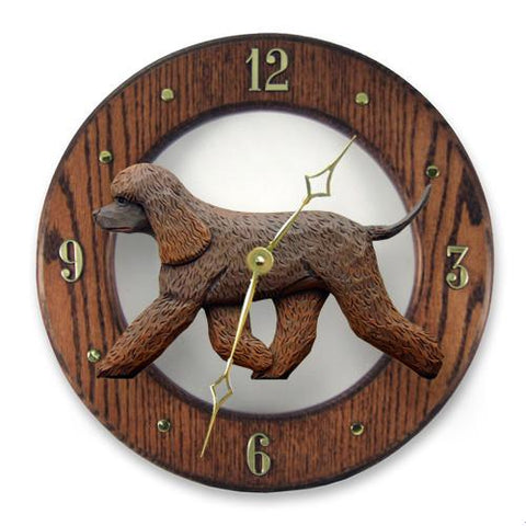 Irish Water Spaniel Wall Clock - Michael Park, Woodcarver
