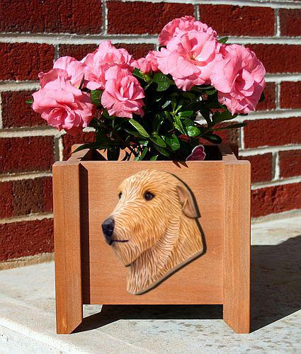 Irish Wolfhound Planter Box - Michael Park, Woodcarver
