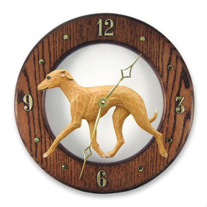 Italian Greyhound Wall Clock - Michael Park, Woodcarver