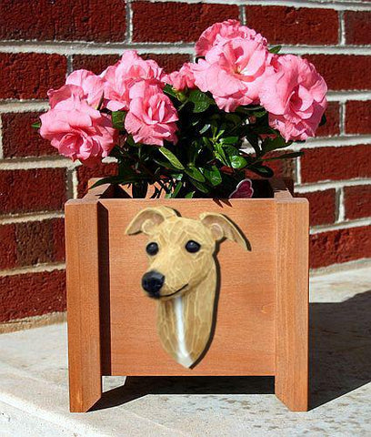 Italian Greyhound Planter Box - Michael Park, Woodcarver